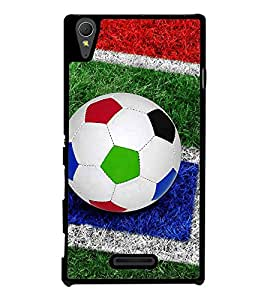 Colourful Football 2D Hard Polycarbonate Designer Back Case Cover for Sony Xperia T3