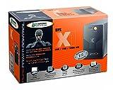 Infosec X1 EX-700 - Gruppo di continuità 700 VA, 2 prese Schuko/FR, 1 spia, colore: Nero