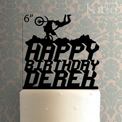 Rummy Custom Dirt Bike Happy Birthday 100 Cake Topper für Jubiläum, Party, Dekoration, Geburtstage, Hochzeiten, Mottopartys in Ihrer Farbe 799369