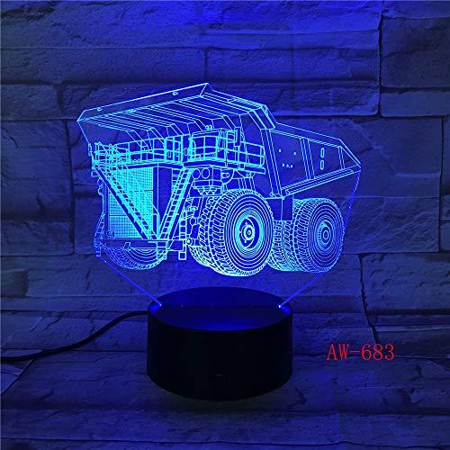 shiyueNB Carretilla elevadora Led 3D Illusion 7 Color cambiante Baby Nightlight Nightlight Nightlight Nightlight Nightlight Nightlight Decoración