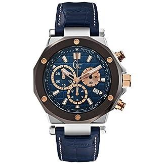 Guess X72025G7S – Reloj para hombres, correa de cuero color azul