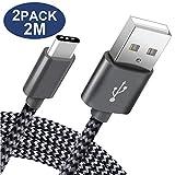 Câble USB Type C Pavoma Chargeur Samsung Cable USB C - 2M/Lot de 2 - Chargeur USB C...