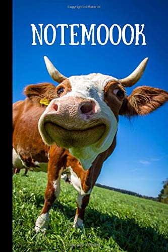unny Cow Notebook, Cow Lovers Gifts, (6