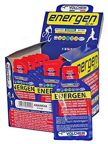 Volchem energen 30 ml / gel energetico / 30 buste da 30 ml / gusto arancia