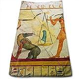 mallcentral-EU Tomba egizia Massima Morbidezza e Telo da Bagno con Asciugamano Stampato Altamente Assorbente