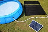 Total Solar Swimming Pool Hot Water Heating Mat 20w Solar Panel & Pump Free Sun Energy Heater Kit
