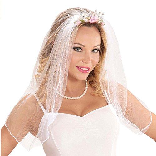 Tiara de boda Diadema con velo de novia Adornos cabello despedida Corona Bride to be Adorno pelo mujer Joya cabello despedida de soltera
