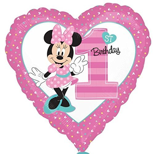 Amscan International 8.724.902,5 cm Minnie Mouse 1. Geburtstag