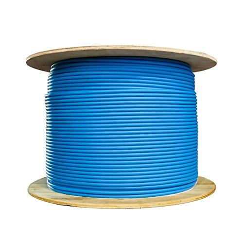 offex Plenum CAT6Bulk Kabel (Solides, geschirmt, Comp, 23AWG, Spule, 1000-foot, blau (of-11X 8-561NH) Comp-video-stereo