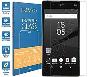 PREMYO verre trempé Sony Xperia Z5. Film protection Xperia Z5 avec un degré de dureté de 9H et des angles arrondis 2,5D. Protection écran Xperia Z5