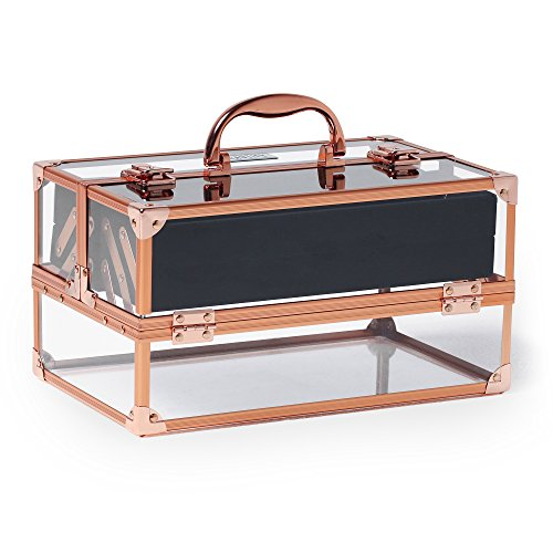 beautify-professional-large-lockable-acrylic-vanity-make-up-beauty-storage-case-with-rose-gold-frame