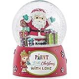 Precious Moments 191103 Schneekugel zum Bemalen von Weihnachten mit Liebe, Kunstharz und Glas, Einheitsgröße, Mehrfarbig