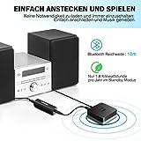Mpow Bluetooth 4.1 Empfänger Bluetooth Audio Adapter mit Entstörfilter für Stereoanlage, (keine Akku,immer betriebsbereit,Gut mit Echo Alexa,iOS,Android System) für Musikanlage/ HiFi Anlage/Auto Lautsprecher/Musikstreaming-Soundsystem mit AUX und Cinch RCA Kabel - 3