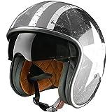 Origine Helmets - Sprint Rebel Star Casco Abierta, Blanco/Gris, L