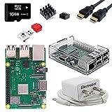 Electrobot Raspberry Pi 3 B+ (B Plus) Starter Kit (16GB, Transparent Case)
