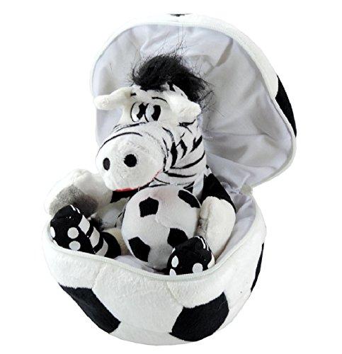 Peluche pallone sorpresa con zebra i love ju 20cm- pupazzo san valentino per tifosi juventus