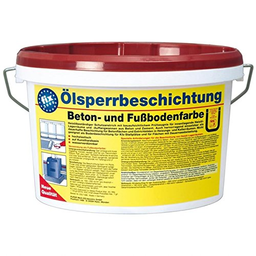 Pufas Ölsperrbeschichtung Betonfarbe Fußbodenfarbe 2,5L rotbraun (ca. RAL 8012)