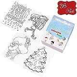 36 Mini libri natalizi da colorare - Ottimi per la calza di Natale, regalini e premi