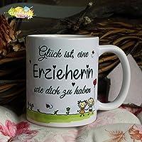 Kaffeebecher ~ Tasse - Glück ist eine Erzieherin wie dich zu haben ~ Weihnachten Geschenk