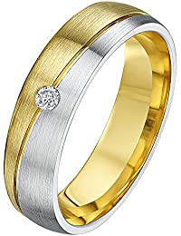 fc29b5f2afb5 Theia His   Hers 14ct White and Yellow Gold Two-Tone 5mm Diagonal Split  Diamond