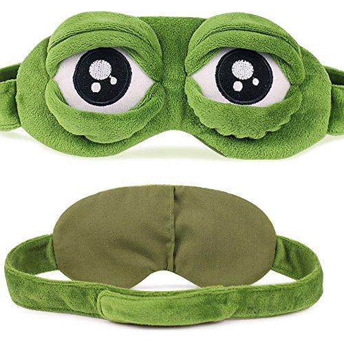Augen Frosch Kostüm - VAWAA 3D Sad Frosch Schlaf Maske Rest Reisen Relax Schlafen Dehilfe Augenbinde Auge Patch Schlafenmaske Fall Anime Cosplay Kostüme