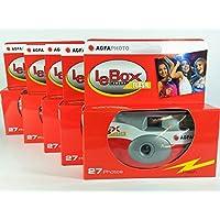 AgfaPhoto lebox Flash 400–Cámara desechable 27fotos con flash 5unidades para Boda, Fiesta, Fiesta