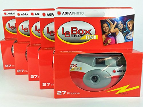AgfaPhoto lebox Flash 400 - Cámara desechable 27 Fotos