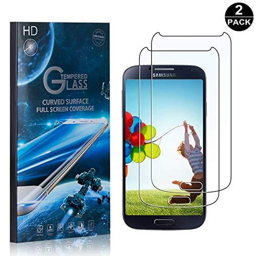 Preisvergleich Produktbild Bear Village® Galaxy S4 Displayschutzfolie,  9H Hart Panzerglasfolie,  Anti-Kratzen,  99% Transparente Schutzfilm aus Gehärtetem Glas für Samsung Galaxy S4-2 Stück