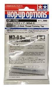 Tamiya 54232-Broca Rosca M3x 0,5mm Plástico