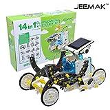 JEEMAK 14-en-1 para la Educación Solar Robot Kit