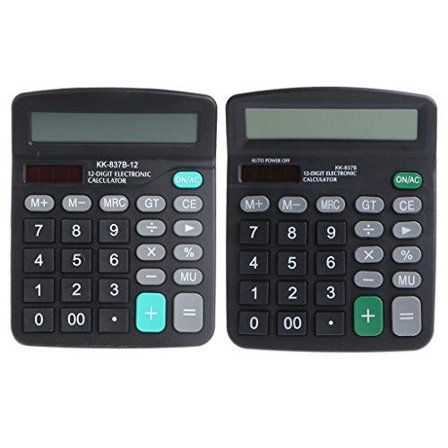 Freshsell Tischrechner, solarbetrieben und batteriebetrieben, große Tasten, Ziffernrechner