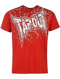 Herren Tapout Core Logo T Shirt Baumwolle Top