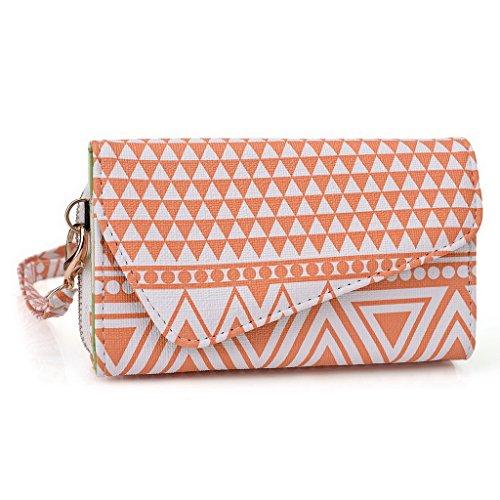 Kroo Pochette/Tribal Urban Style Étui pour téléphone portable compatible avec Lenovo Appareil/A316i Multicolore - rouge Multicolore - White and Orange