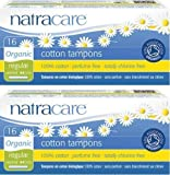 (LOT DE 2) - Natracare - Org Applicator Tampons Regular   16pieces   LOT DE 2