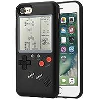 F-FISH ® para iPhone funda protectora de silicona para teléfono que puede jugar un juego clásico (Negro, iphone 6/6s)