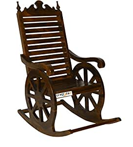 ... Crafts A To Z Wooden Easy Chair / Wood Aaram Chair / Hand Carved  Rocking Chair
