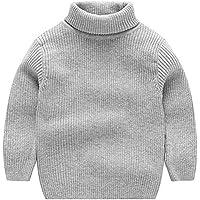 ARA Jersey de Cuello Alto de Punto para Niños Noñas Suéter Grueso de Otoño Invierno 1-7 años