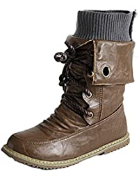 Minetom Otoño Invierno Cómodas Para Mujer Zapato Boots Shoes Flat Planas Pompones Pu Cuero Botines Botas De Martin BF Estilo Moda
