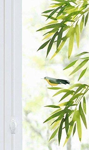 Fenstersticker Blätter und Vogel