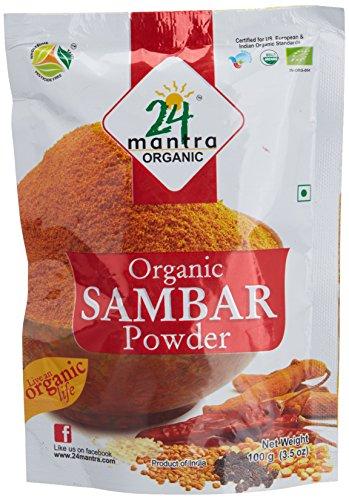 24 Mantra Organic Sambar Powder, 100g  available at amazon for Rs.45