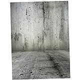 #3: Baoblae 1.5x1m Bar Wall Floor Studio Prop Photography Background Photo Backdrop Grey Wall