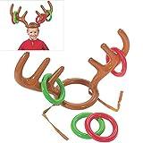 BUOCEANS Ringwurf, Aufblasbare Rentier Geweih Toss Ringen Weihnachts-Party Werfen Spiel, Color