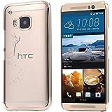 ECENCE HTC ONE M9 CASE COVER SCHUTZ-HUELLE SCHALE FEE GOLD 14010205