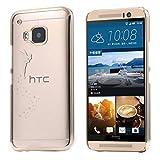 ECENCE HTC ONE M9 CASE COVER SCHUTZ-HUELLE SCHALE FEE GOLD