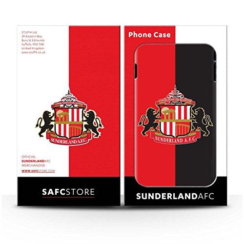 Offiziell Sunderland AFC Hülle / Matte Harten Stoßfest Case für Apple iPhone 5/5S / Pack 6pcs Muster / SAFC Fußball Crest Kollektion Rot/Schwarz