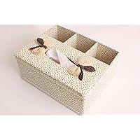 ZJH Creativo tessuto casella multifunzionale storage desktop di storage vassoio di pompaggio del volume scatola del tessuto panno di cartone , 1