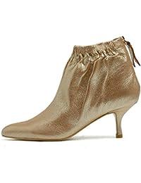 Darco   Gianni Damen Leder Stiefeletten Frauen Schwarz Wildleder Ankle  Boots Spitz Zehen mit Reißverschluss Elegant b243360593
