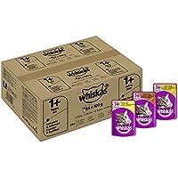 Whiskas Katzenfutter 1+ für erwachsene Katzen - saftige Geflügel-Auswahl in Sauce / 84 Portionsbeutel (84 x 100 g)