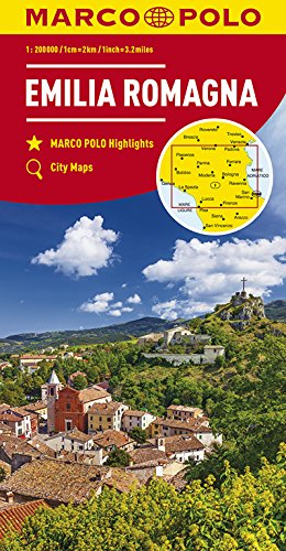MARCO POLO Karte Italien Blatt 6 Emilia Romagna 1:200 000: Wegenkaart 1:200 000 (MARCO POLO Karten 1:200.000) - Übergangs-blätter