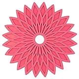 MWPO Tovagliette, Set di 6 tappetini Geometrici Floreali in Gel di silice Tovagliette Lavabili Resistenti al Calore da Tavolo Sottobicchieri per Barbecue da Giardino (Colore Opzionale), Rosa